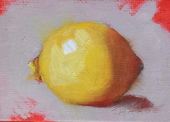 """Mini Lemon"" original fine art by Cindy Haase"