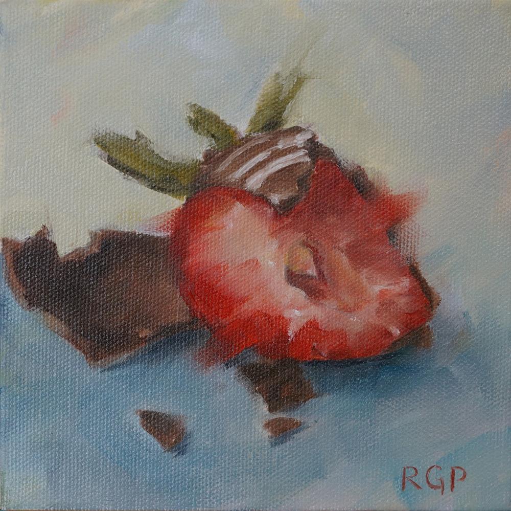 """Chocolate Covered Strawberry"" original fine art by Rhea  Groepper Pettit"