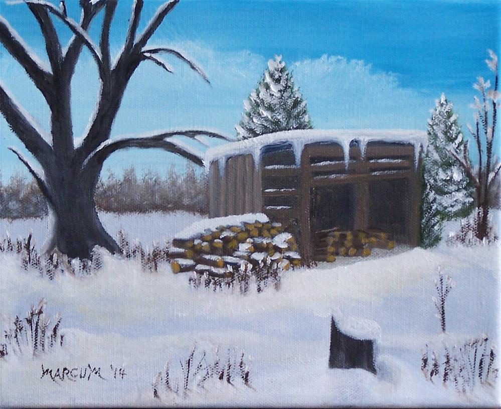 """The Woodshed"" original fine art by John Marcum"