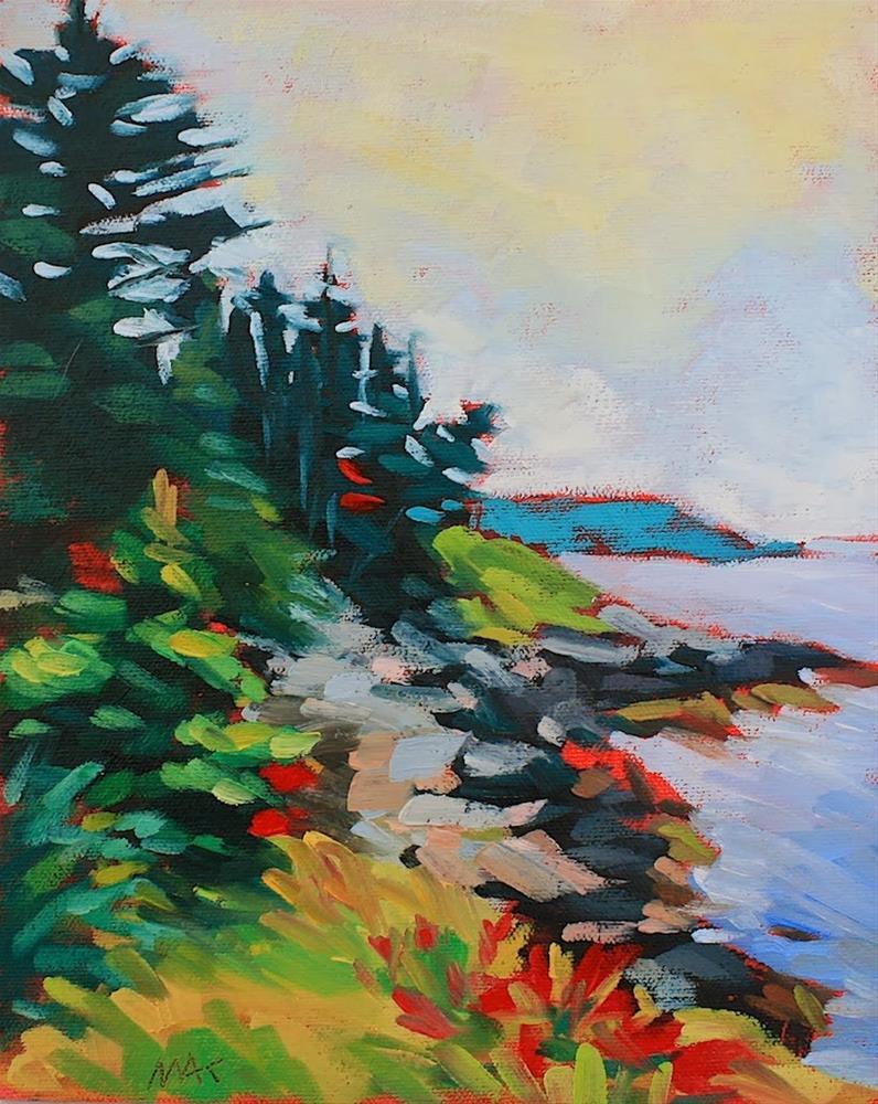 """Coastal Sketch"" original fine art by Mary Anne Cary"