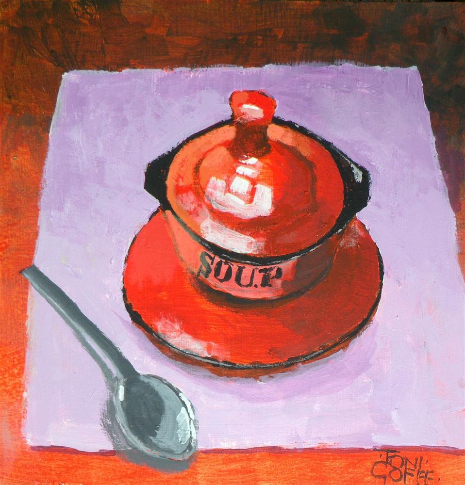 """Soup"" original fine art by Toni Goffe"