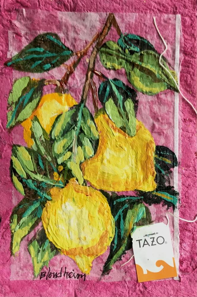 """Lemon Tree"" original fine art by Linda Blondheim"