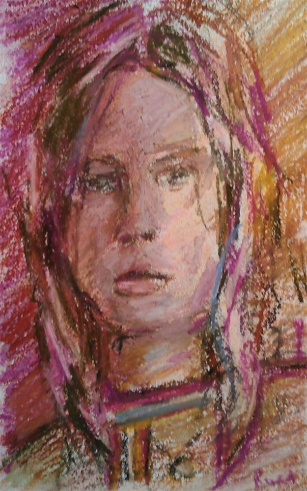 """Adolescent (Day 1 of 30 Portraits in 30 Days)"" original fine art by Ann Rudd"