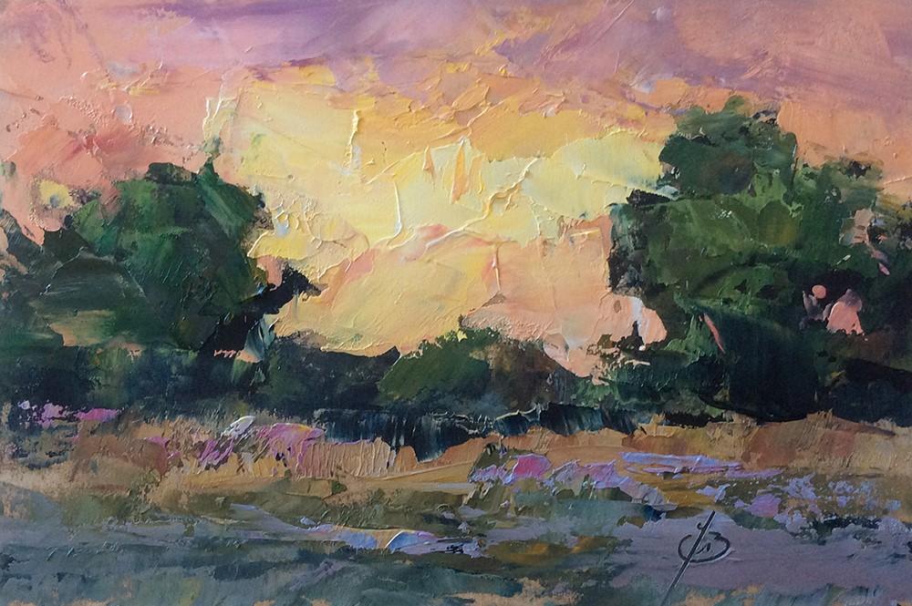 """""""A MAGICAL SKY"""" original fine art by Tom Brown"""