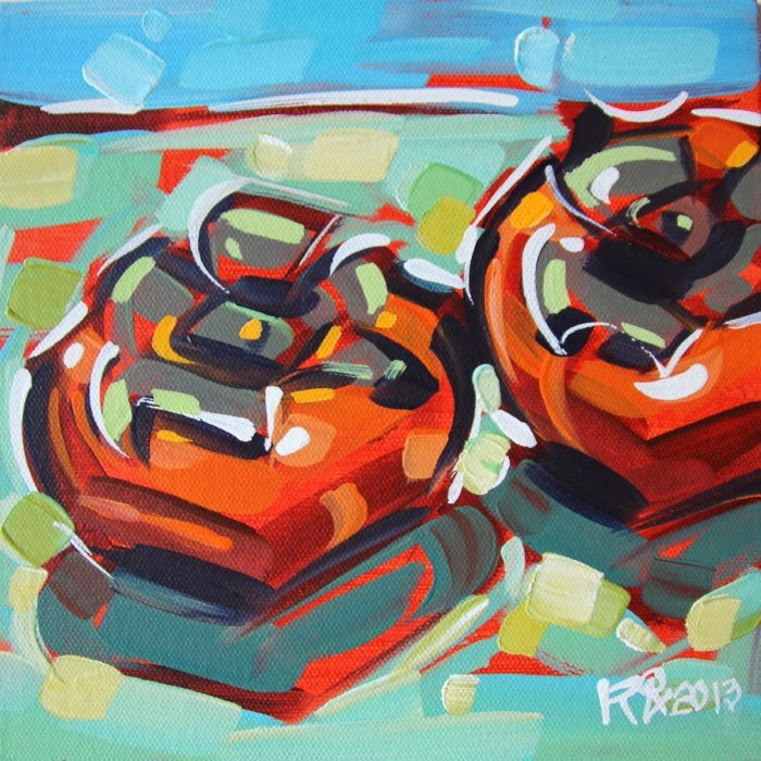 """""""Persimmon abstraction 2"""" original fine art by Roger Akesson"""