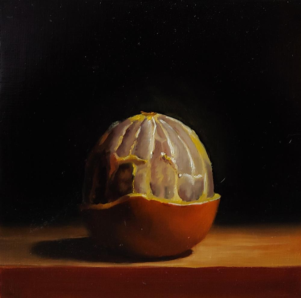 """Peeled Orange"" original fine art by Edward Watson"