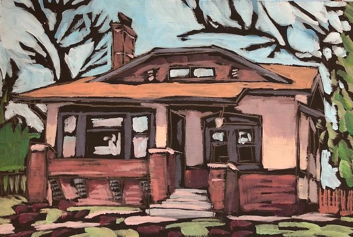 """Kostek House"" original fine art by Kat Corrigan"