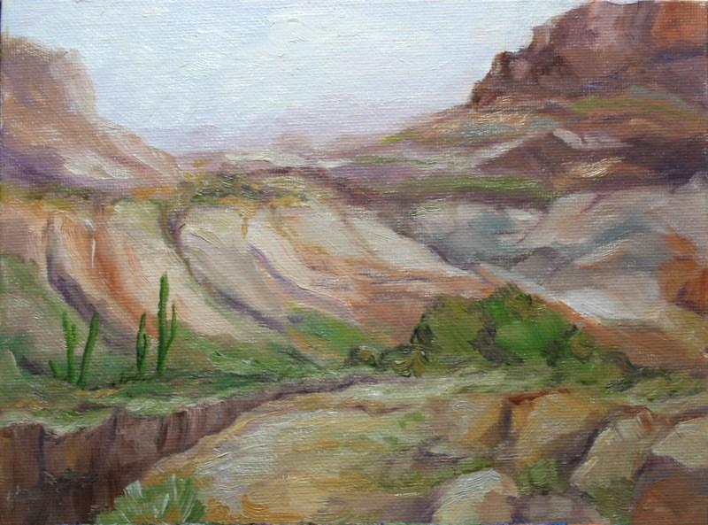 """""""High Desert Canyon"""" original fine art by Jean Nelson"""