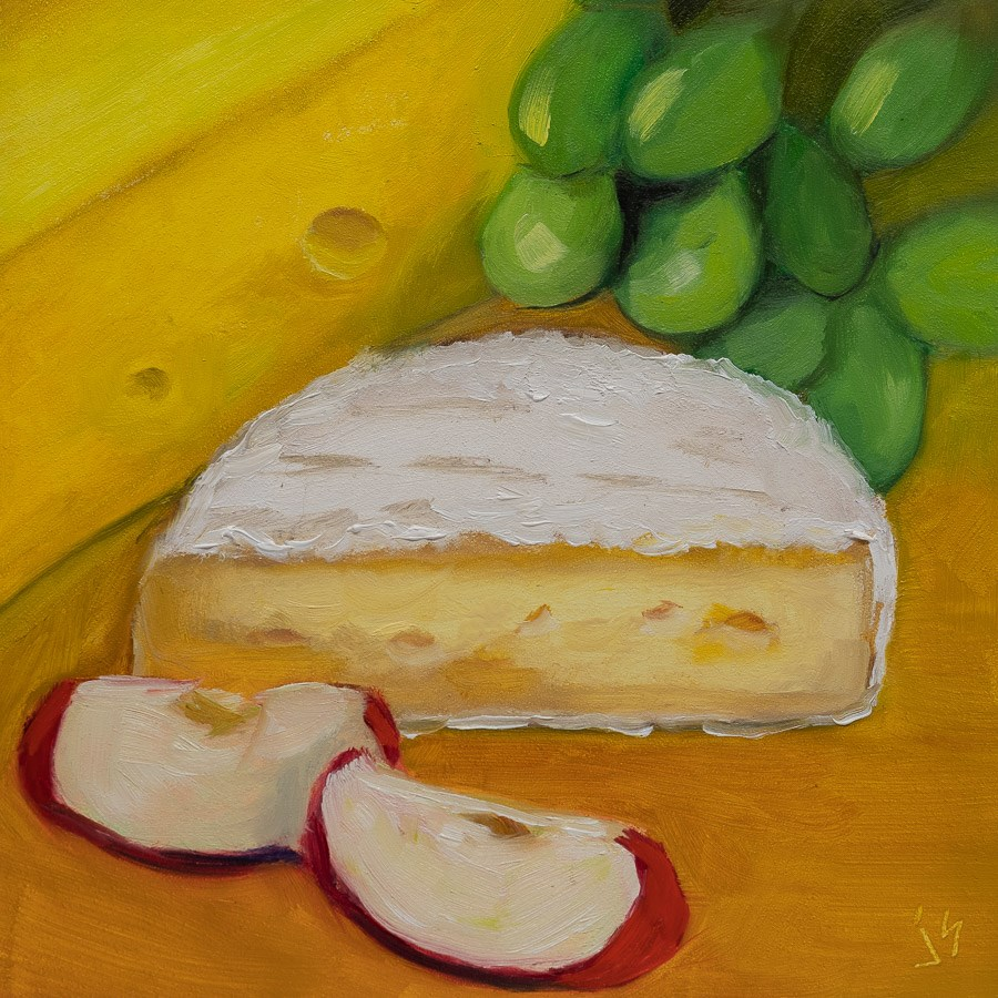 """Where's the Cheese"" original fine art by Johnna Schelling"