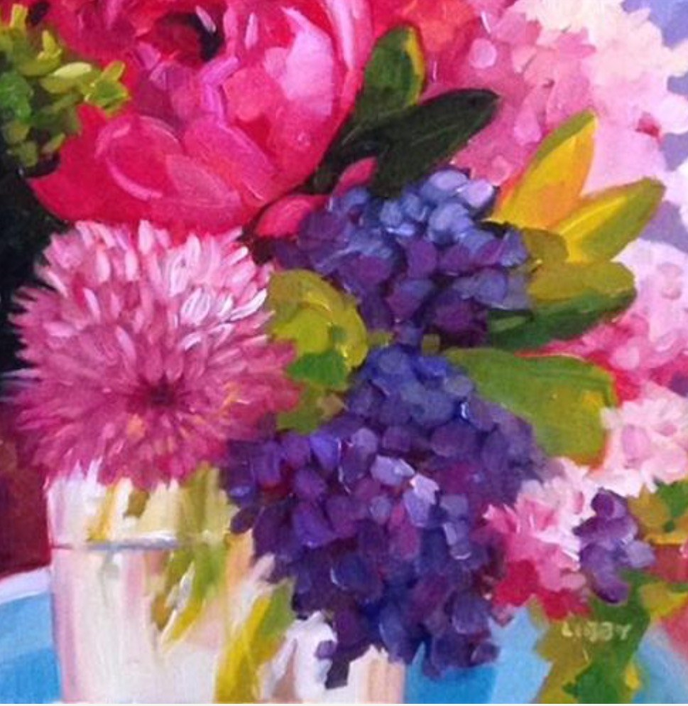"""Flowers for Luck"" original fine art by Libby Anderson"