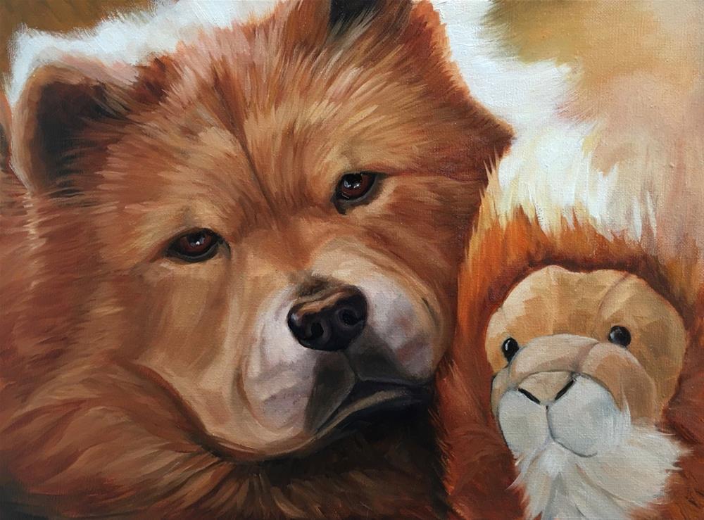 """China - Pet Portrait Commission "" original fine art by Linda Marino"