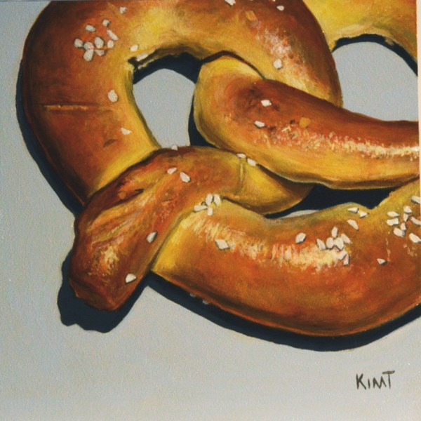 """Soft Pretzel"" original fine art by Kim Testone"