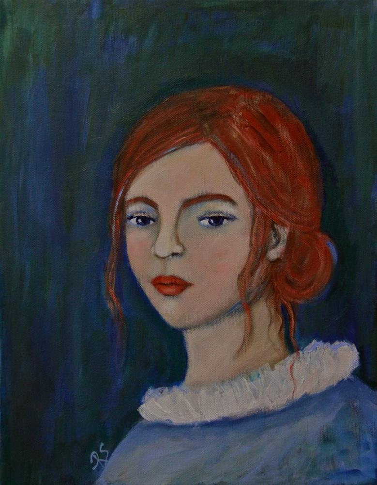 """Portrait of Emily Anne"" original fine art by Roberta Schmidt ArtcyLucy"