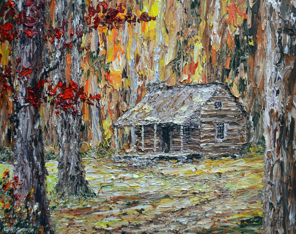 """SALE!!! Autumn at Cades Cove"" original fine art by Gloria Ester"