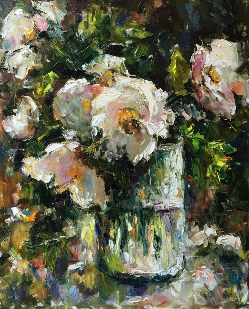 """Wild Rose"" original fine art by pepa sand"
