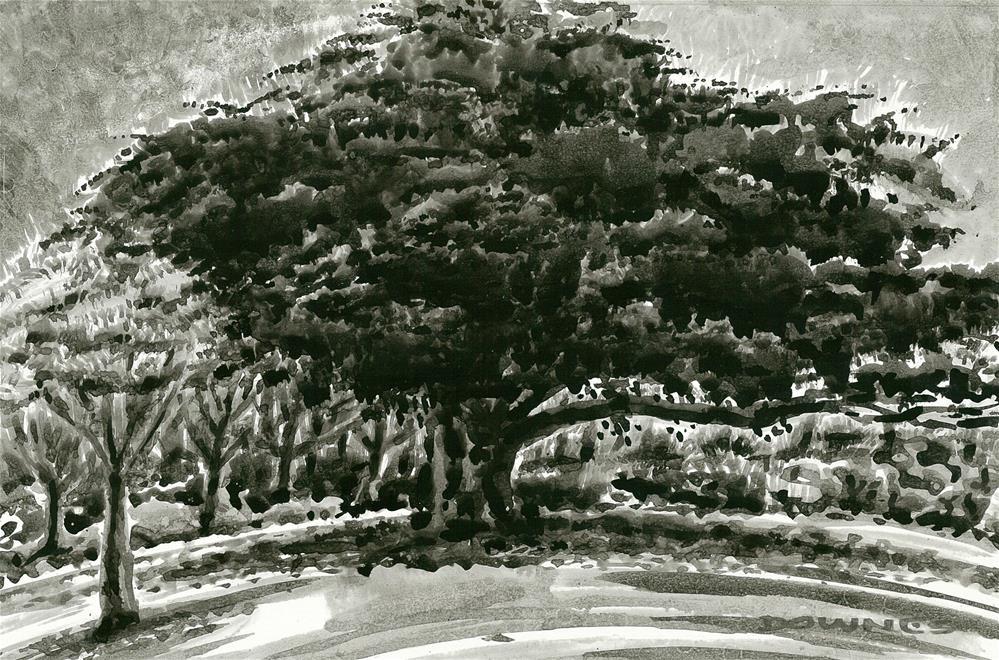 """258 EN PLEIN AIR SKETCH 17"" original fine art by Trevor Downes"