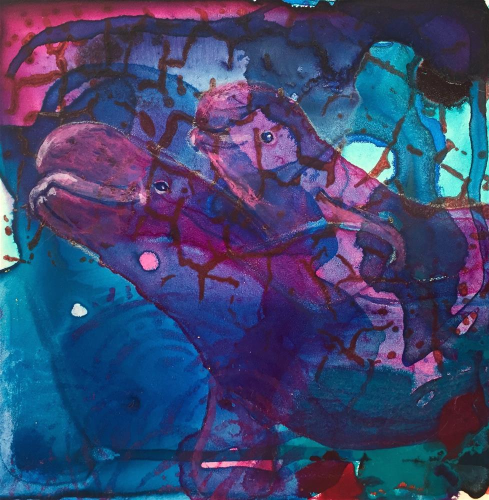 """""""#18 In Deep"""" original fine art by Silke Powers"""