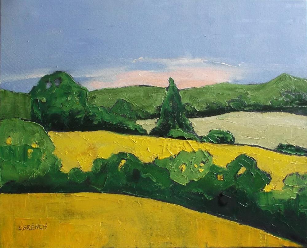 """Morning Hills"" original fine art by lynne french"