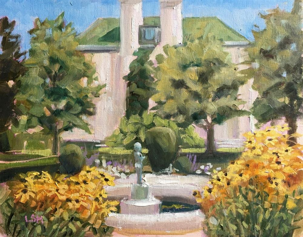 """Late Blooms at Harkness Memorial Park Waterford Ct"" original fine art by Linda Marino"