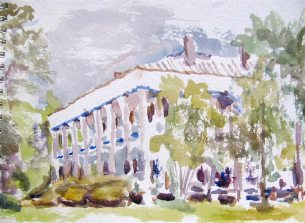 """Ellerslie Plantation"" original fine art by Susan Elizabeth Jones"