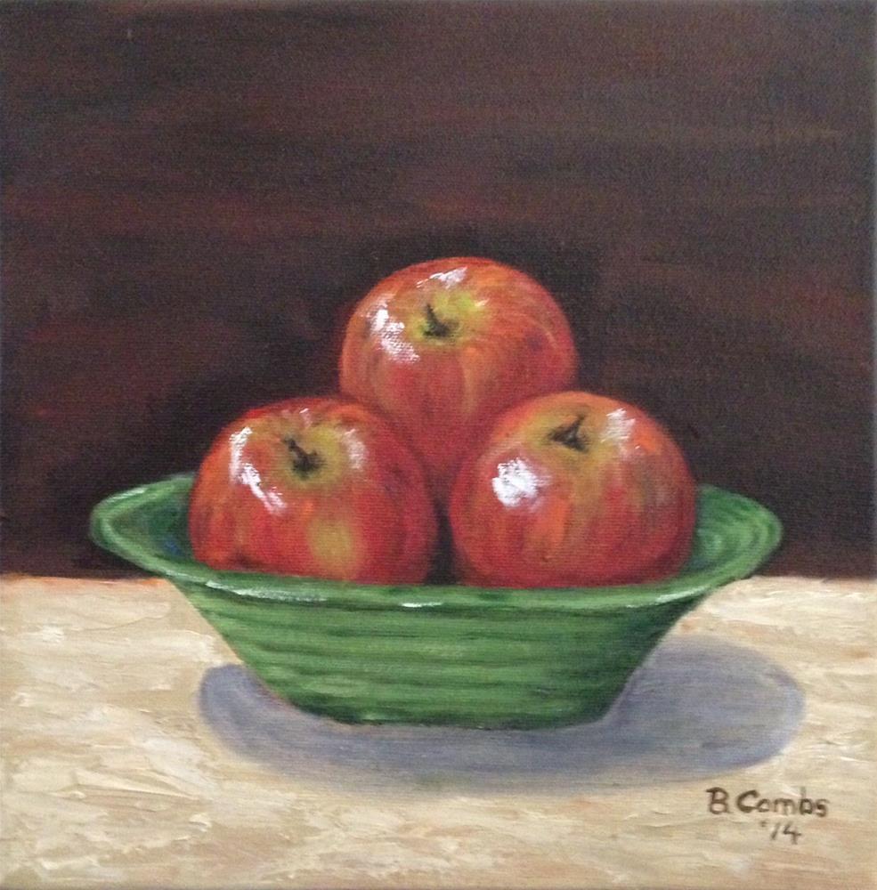 """Bowl of Apples"" original fine art by Bebe Combs"