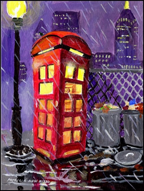 """Somewhere in a City"" original fine art by Patricia Ann Rizzo"