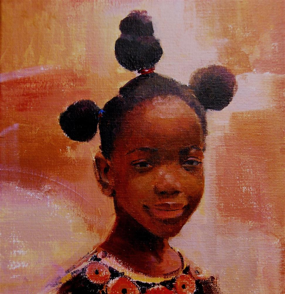 """She brings the sun (AFRO 15)"" original fine art by Adebanji Alade"