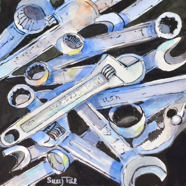 """Tools"" original fine art by Suzy 'Pal' Powell"
