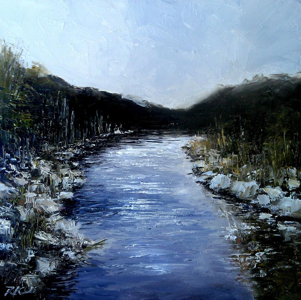 """Rocky Riverbed"" original fine art by Bob Kimball"