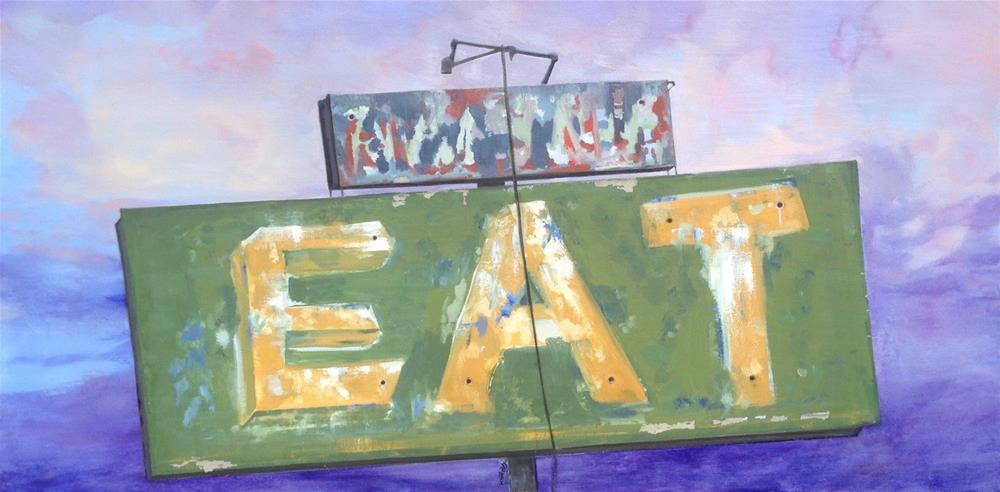 """""""Eat"""" original fine art by Karen Stitt"""