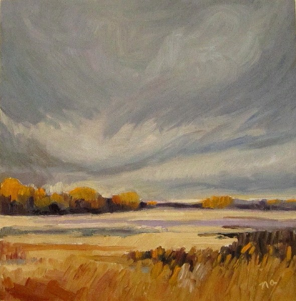 """Soft Sky"" original fine art by Nicki Ault"