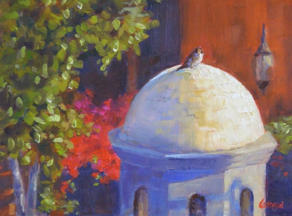"""San Miguel Morning, 8x6 Oil on Canvas"" original fine art by Carmen Beecher"