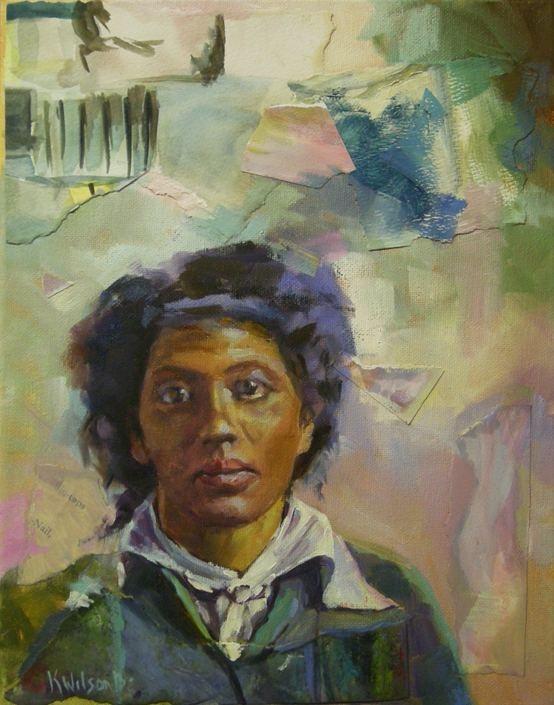 """A Lot on Her Mind #2"" original fine art by Katie Wilson"