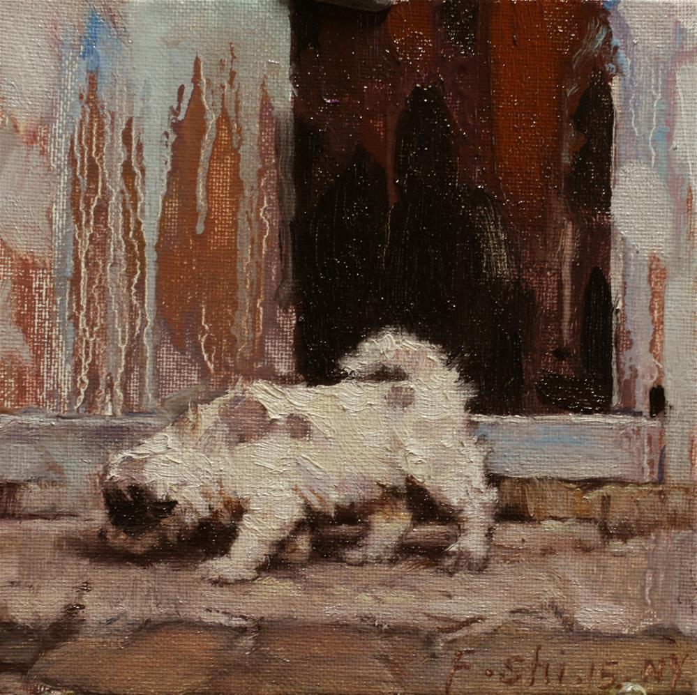 """""""puppy"""" original fine art by fengshi jin"""
