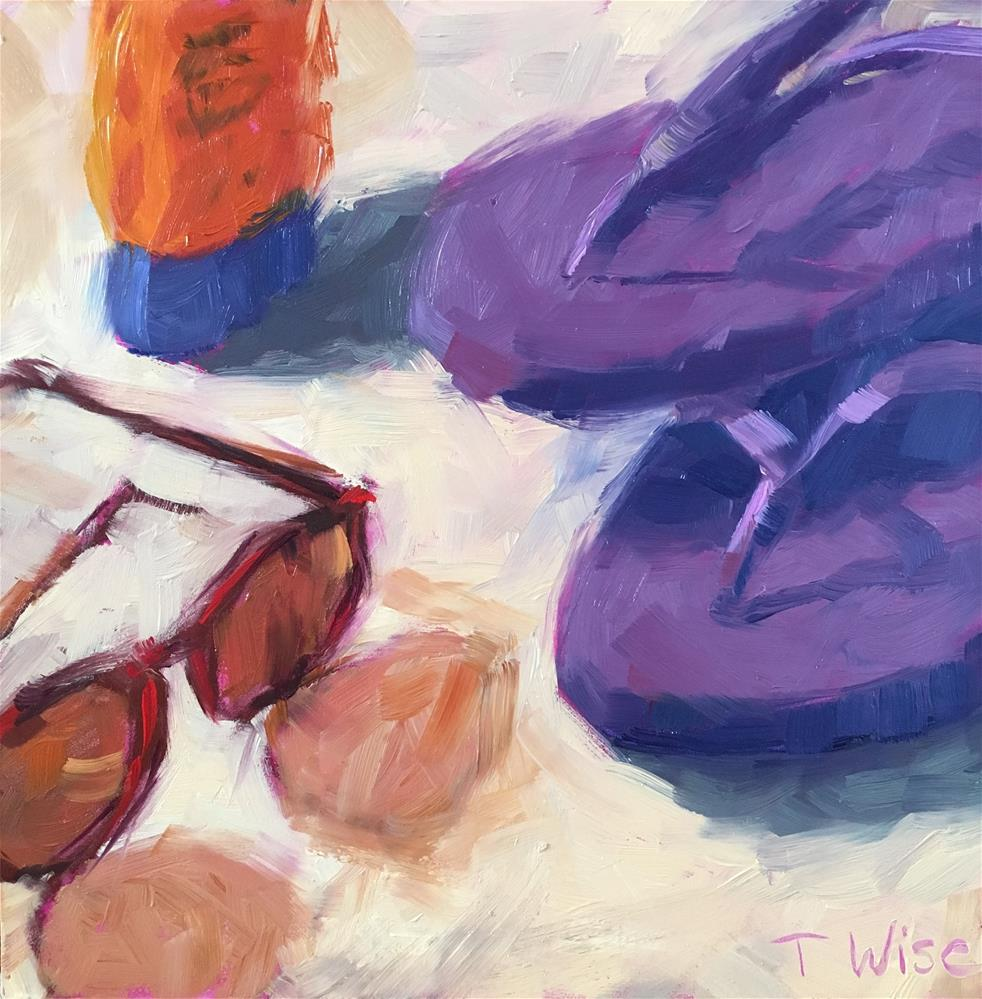 """Beach Day"" original fine art by Tracy Wise"