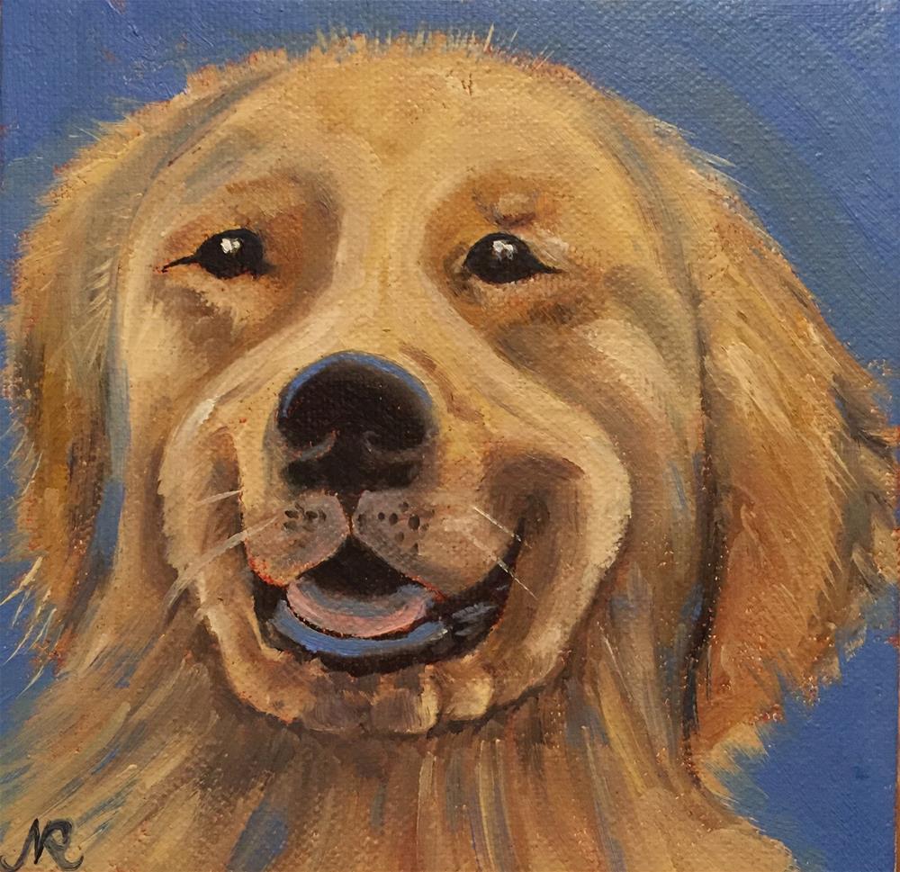 """""""Puppy"""" original fine art by Natasha Ramras"""