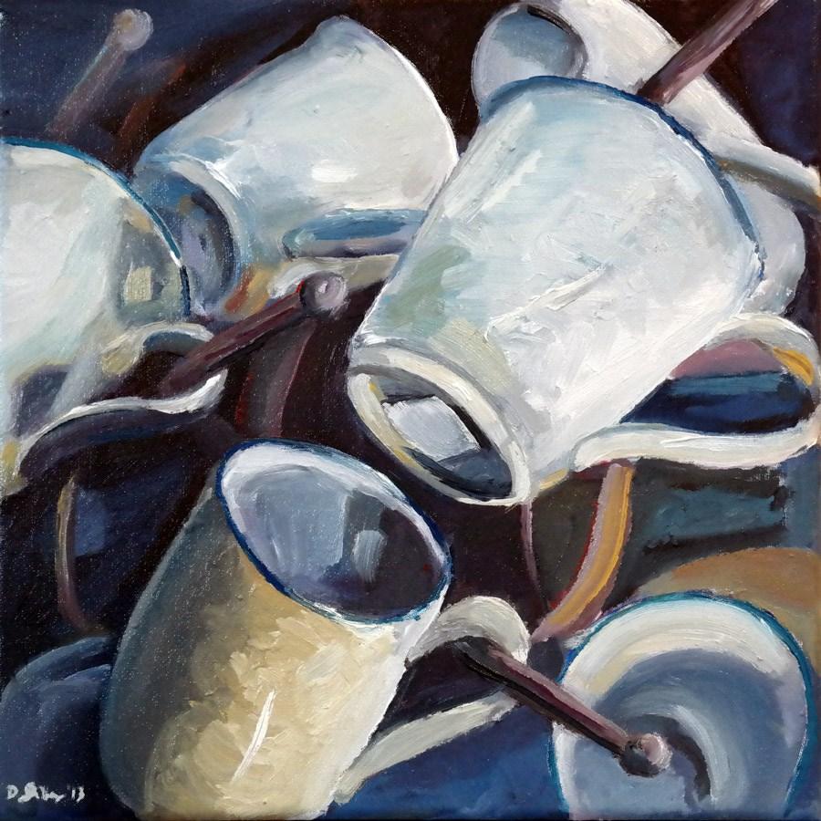"""""""0838 Cup Players"""" original fine art by Dietmar Stiller"""