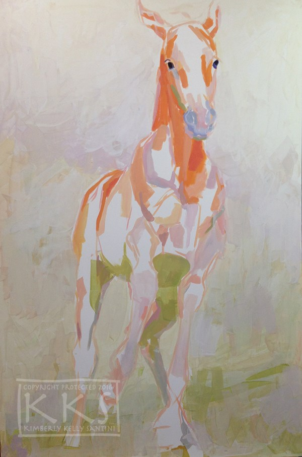 """Legs, in process"" original fine art by Kimberly Santini"