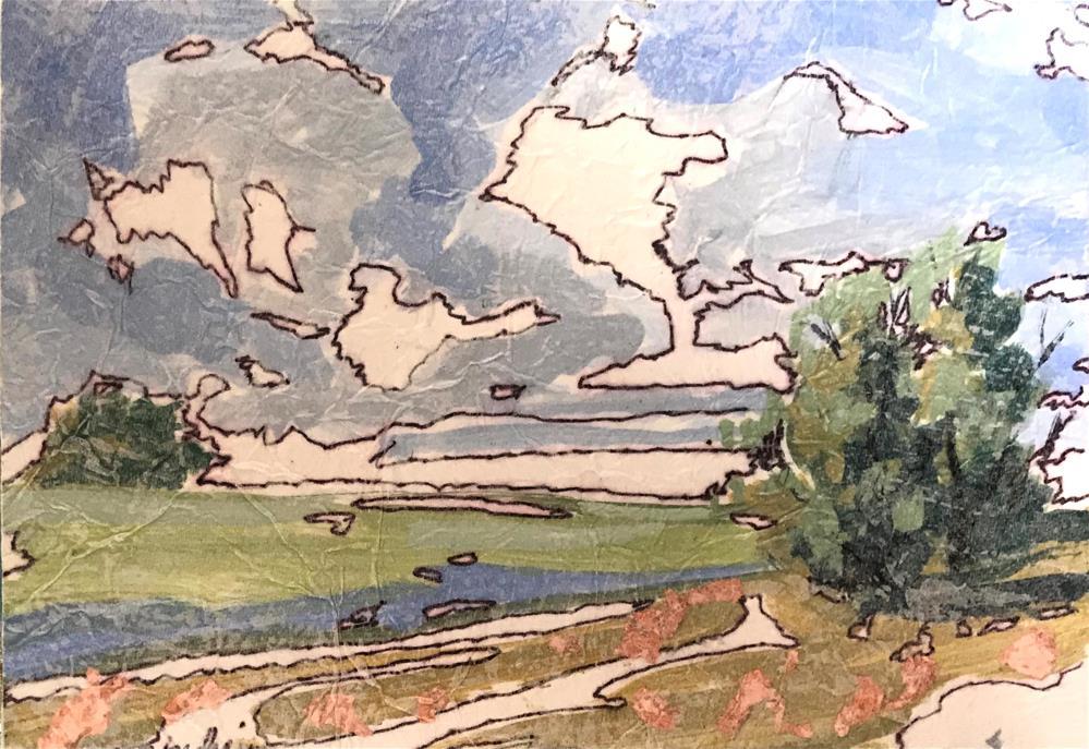 """""""Pasture"""" original fine art by Linda Blondheim"""