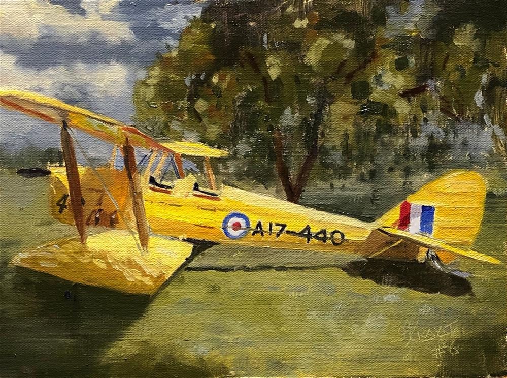 """""""Tiger Moth Study #7 in Yellow, Red, and Blue"""" original fine art by Garry Kravit"""