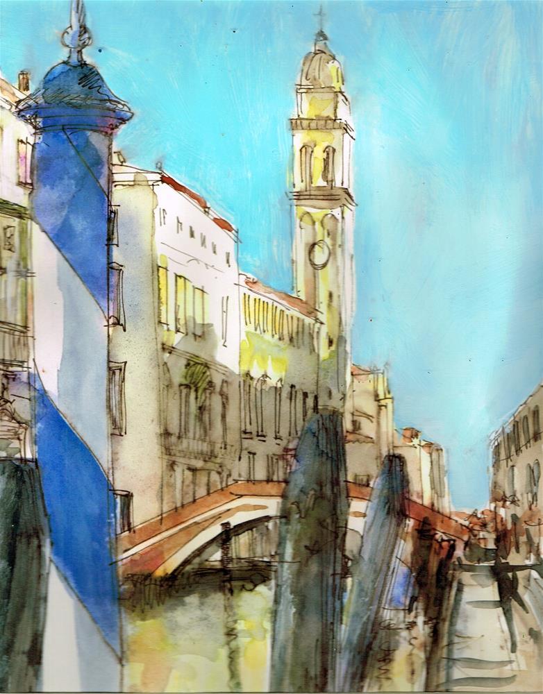 """""""Venice3"""" original fine art by Wim Van De Wege"""
