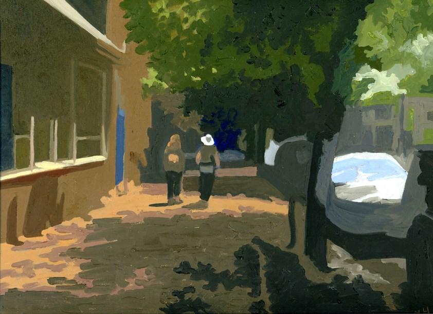 """Stroll Down the Hill"" original fine art by Nancy Herman"