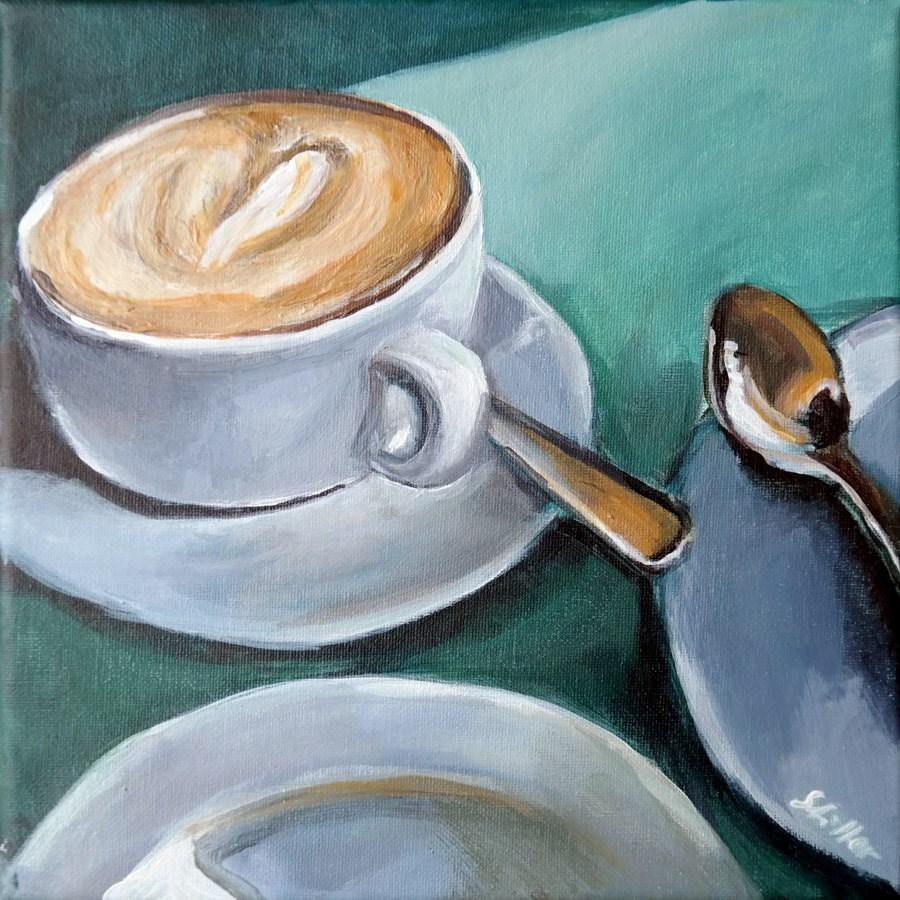 """""""1812 Favorite Coffee"""" original fine art by Dietmar Stiller"""