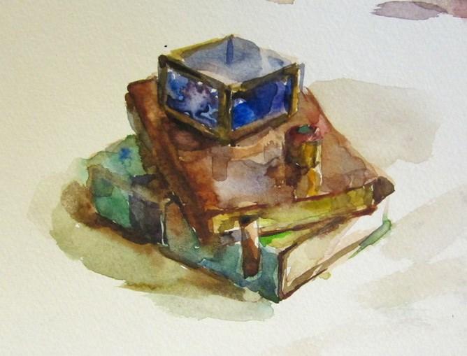 """books"" original fine art by Taisia Kuklina"