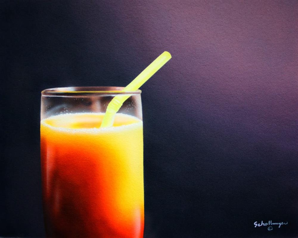 """""""Another Tequila Sunrise"""" original fine art by Fred Schollmeyer"""