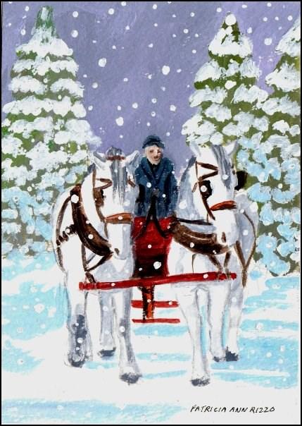"""""""Let's Go Home Boys"""" original fine art by Patricia Ann Rizzo"""