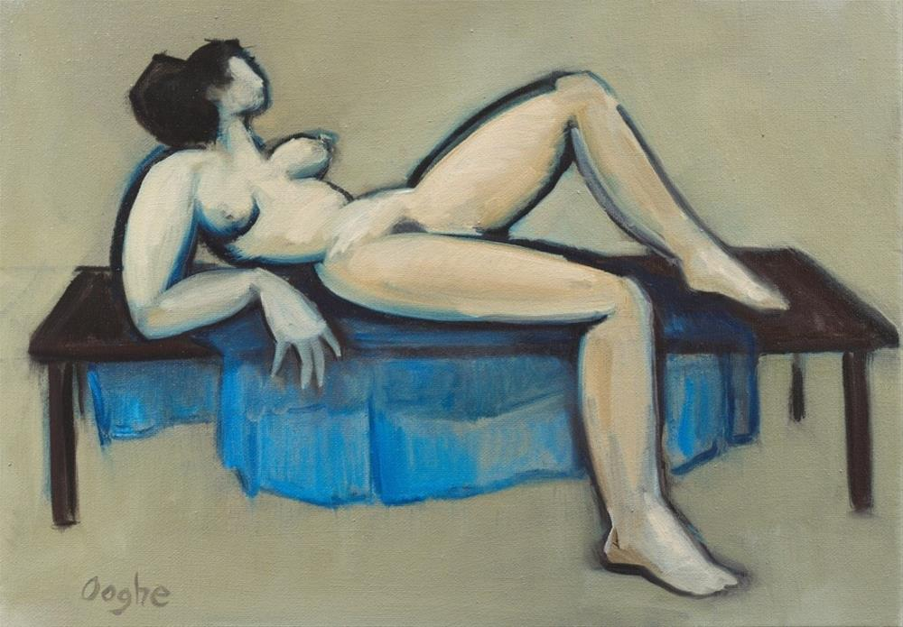 """Nude on Table"" original fine art by Angela Ooghe"