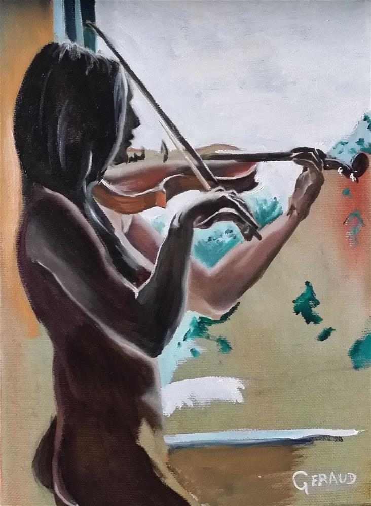 """The Violin"" original fine art by Geraud Staton"