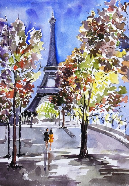 """""""Path to the Tower #2"""" original fine art by Lisa Fu"""
