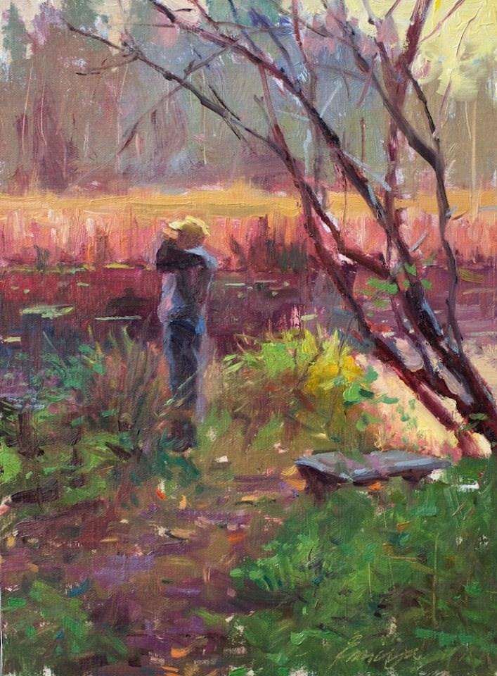 """""""The Birdwatcher"""" original fine art by Emiliya Lane"""